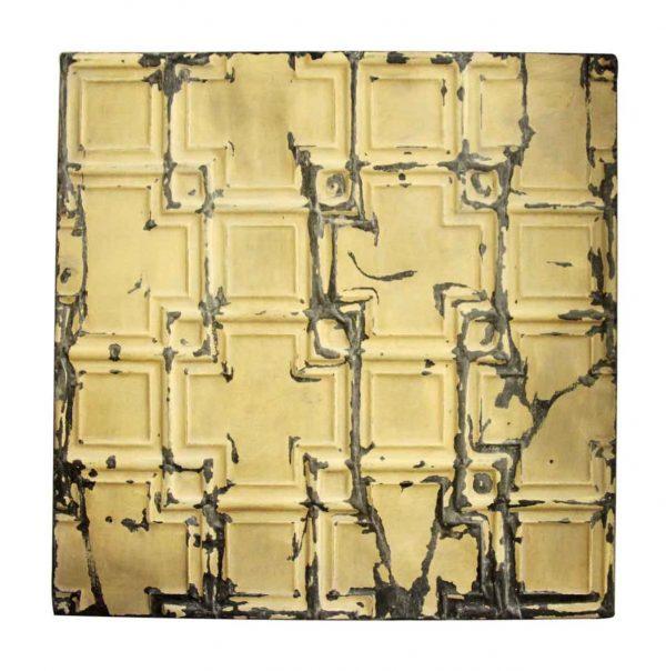Tan Cross Tin Panel