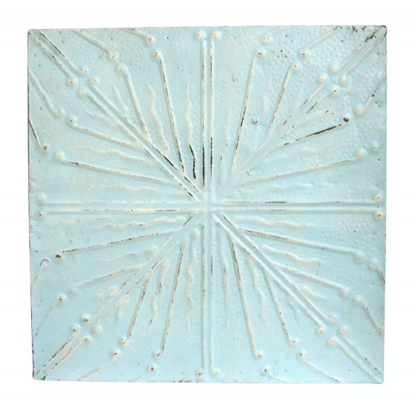 Light Blue Four Fold Tin Panel