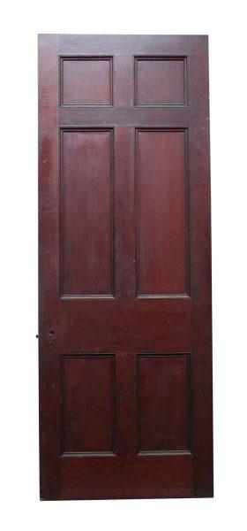 Six Panel Cherry Stained Door