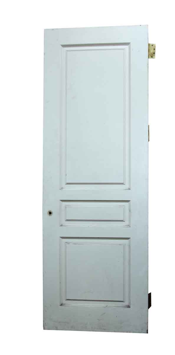 White Three Panel Door