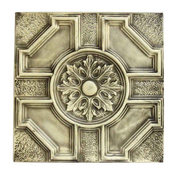 Floral Geometric Tin Panel