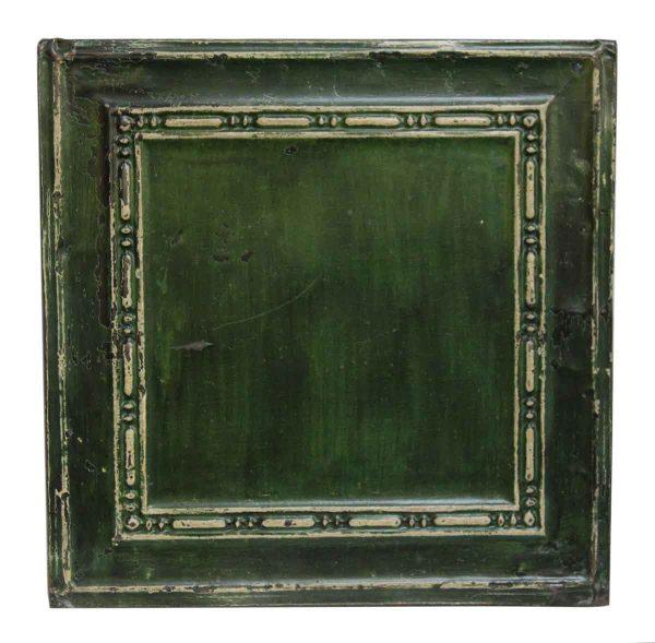 Square Green & White Tin Panel