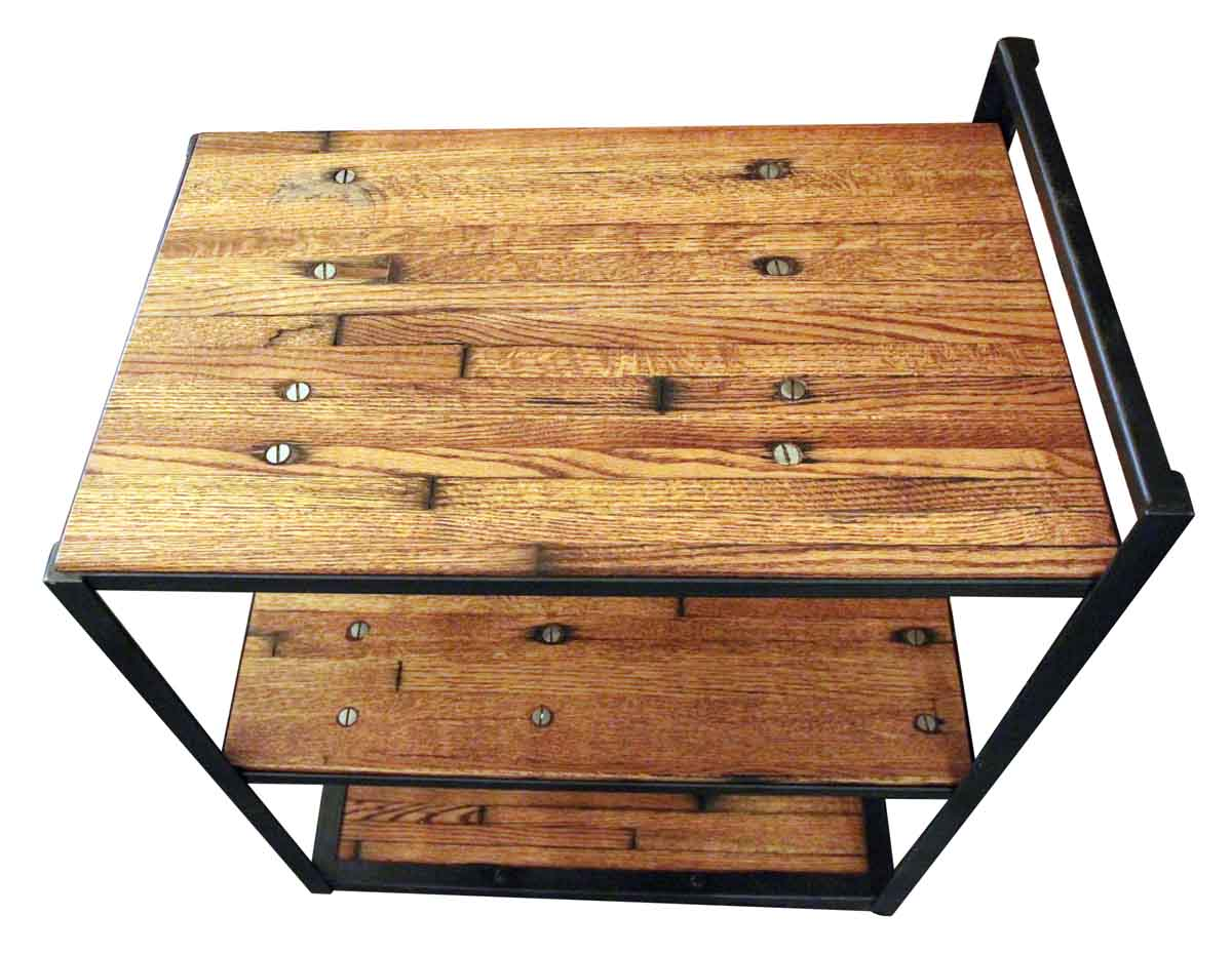 Very Impressive portraiture of Industrial Bar Cart with Wood Shelves Olde Good Things with #A77624 color and 1200x930 pixels