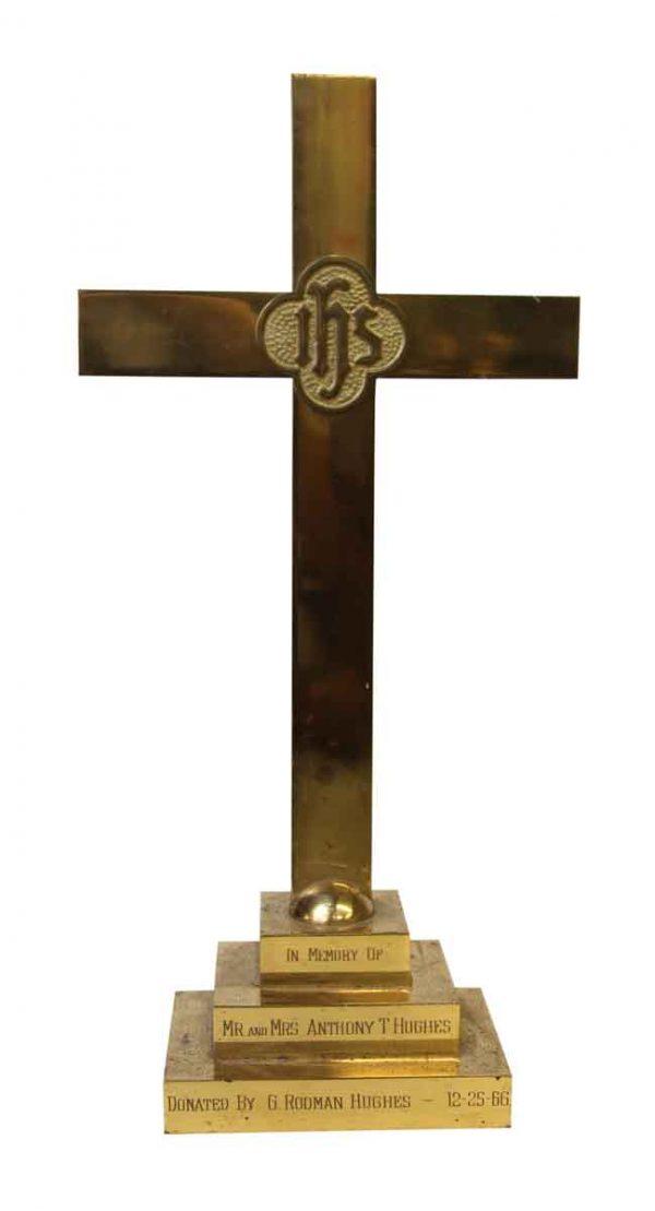 Memorial Brass Cross