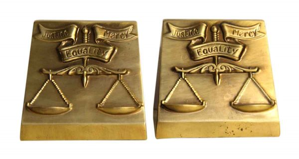 Pair of Gold Equality Book Ends