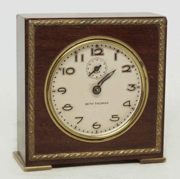Small Wooden Seth Thomas Table Top Clock