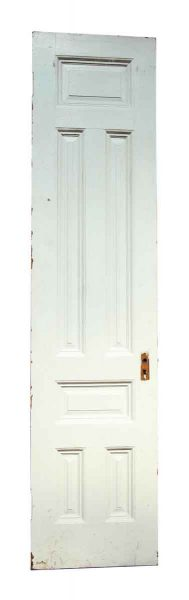 Single Six Panel White Narrow Door