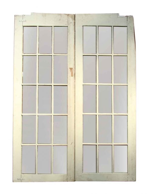 Pair of Glass Panel French Doors