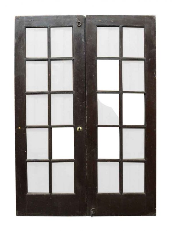 Pair of 10 Glass Panel French Doors