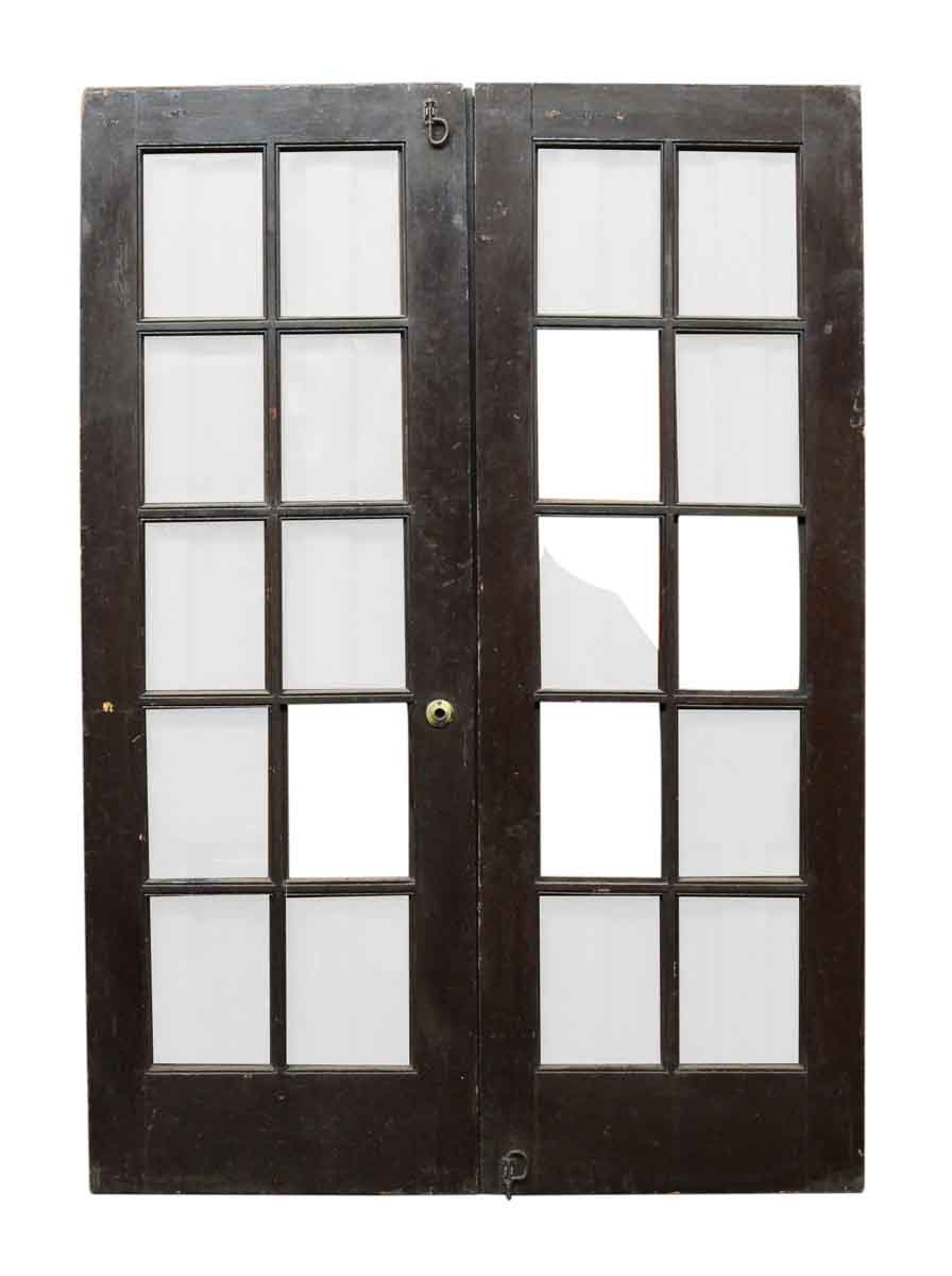 Pair of 10 glass panel french doors olde good things for Glass french doors