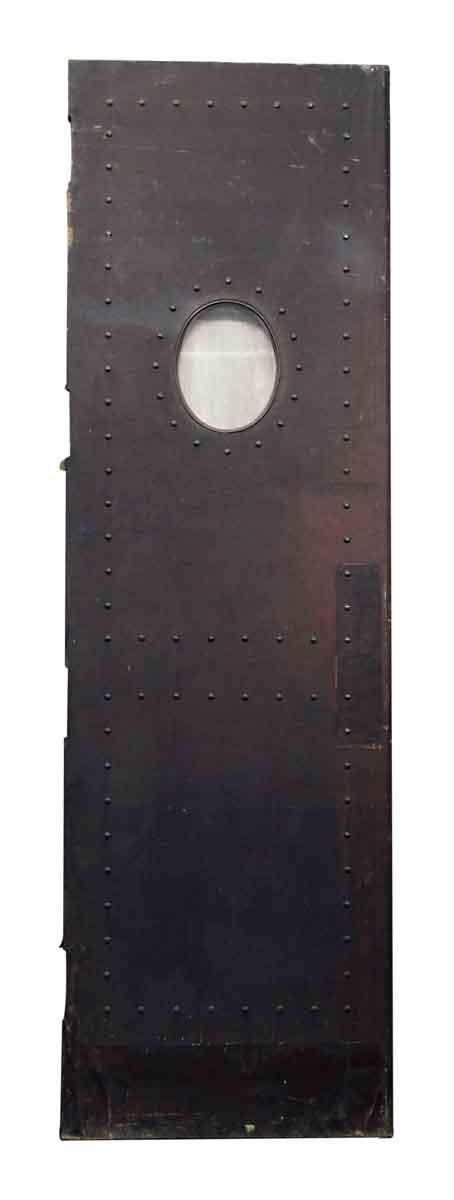 Single Studded Leather Swinging Door