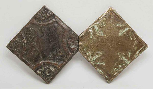 Decorative Earth Tone Triangular Tin Panel