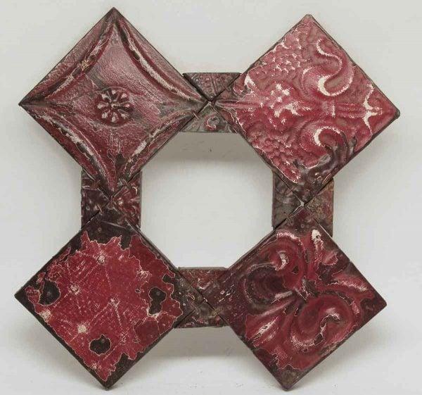 Decorative Red Triangular Tin Panels
