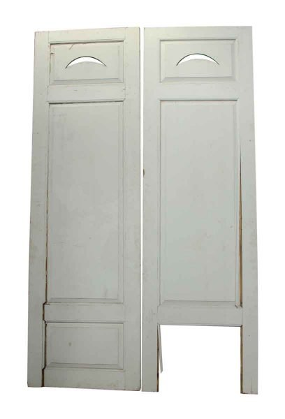 Pair of Doors with Crescent Cut Out