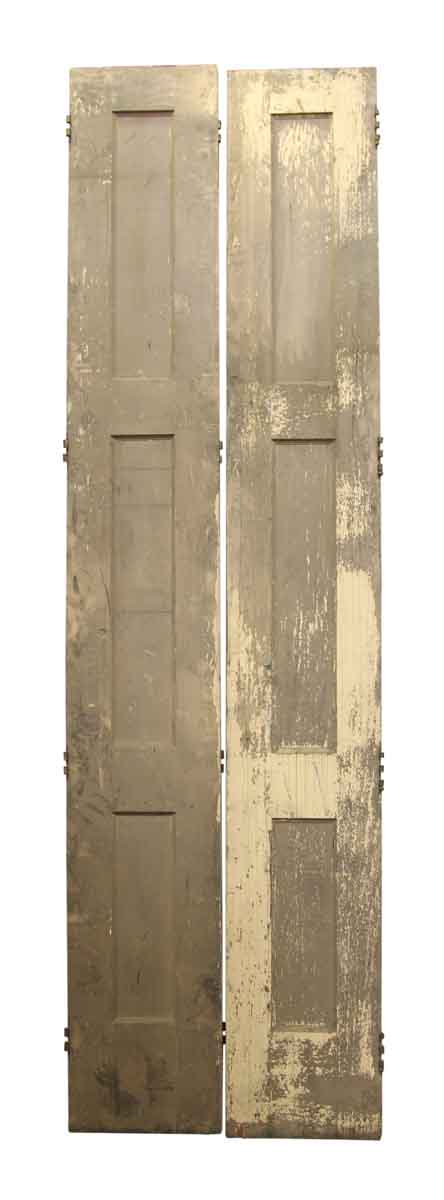 Pair Of Tall Narrow Doors With Three Panels Olde Good Things