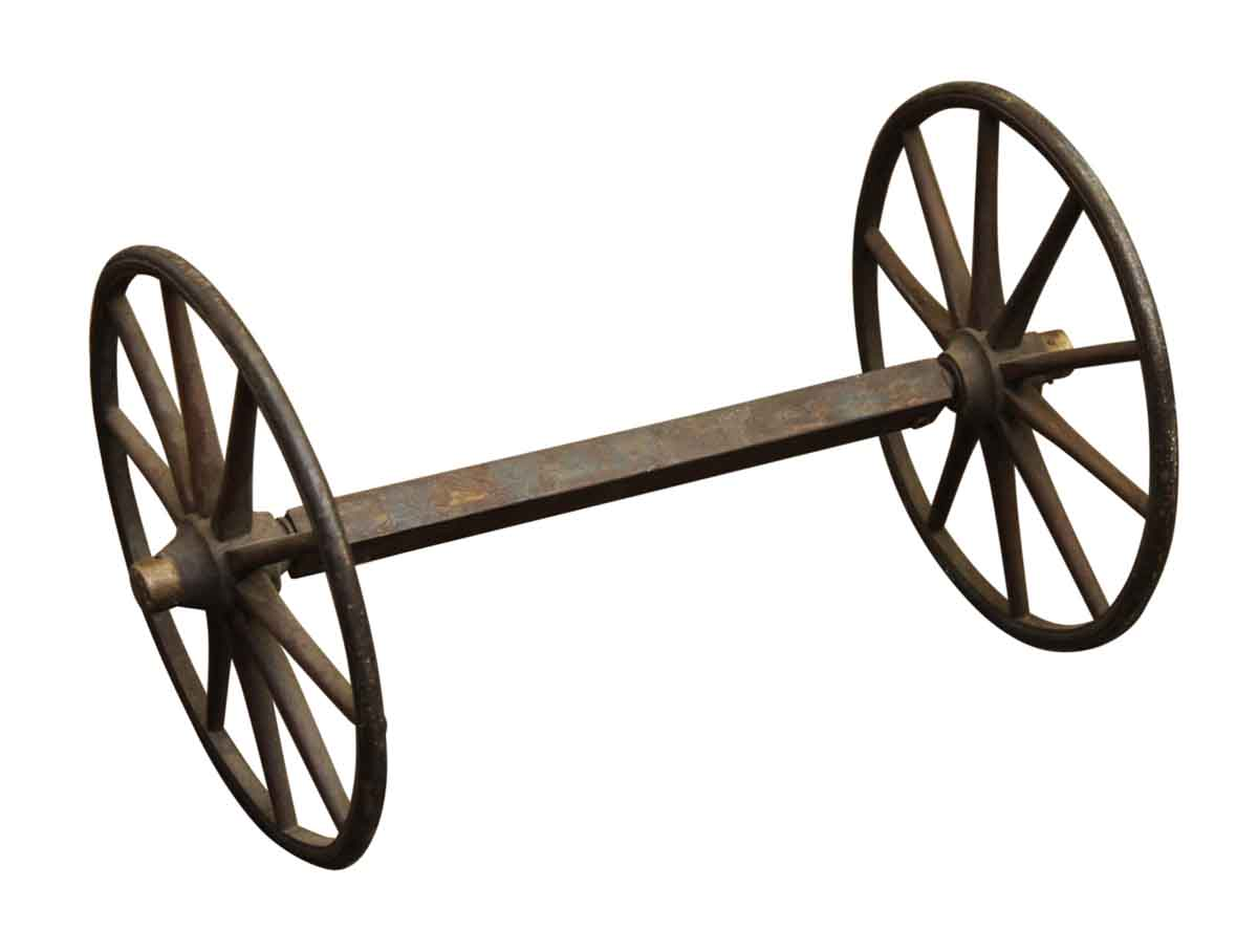 Decorative iron wagon wheels olde good things for Things to do with old wagon wheels