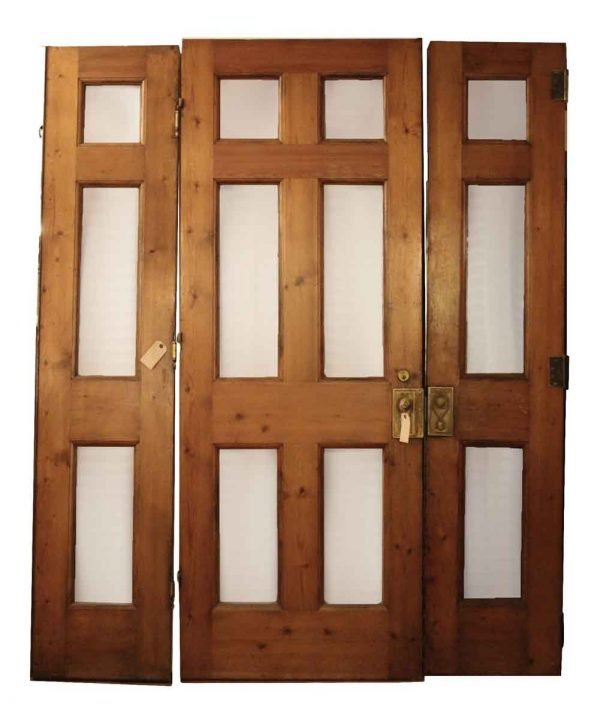 Knotty Pine Set of Three Doors