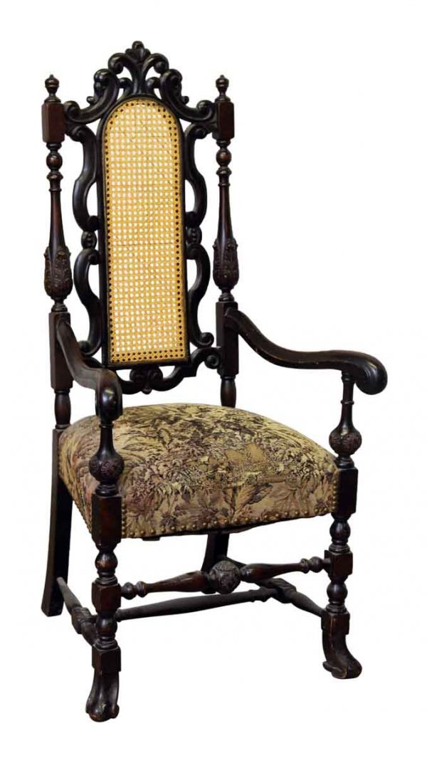 Ornate Carved Studded Chair