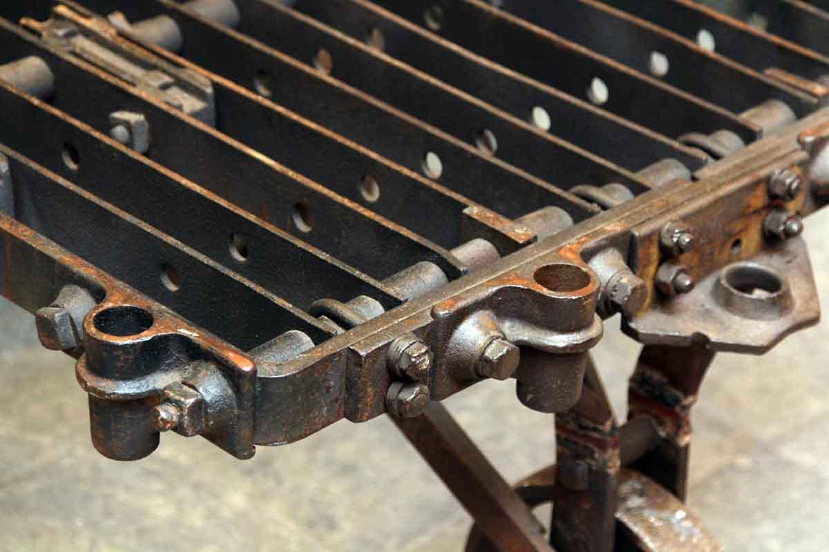 industrial metal factory cart coffee table | olde good things