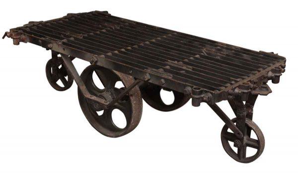 Industrial Metal Factory Cart Coffee Table Olde Good Things