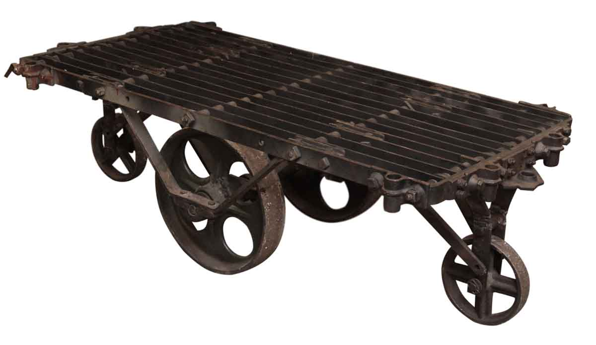 Charming Industrial Metal Factory Cart Coffee Table