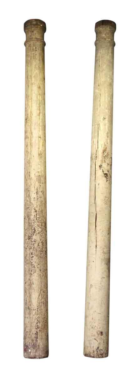 Pair of Solid Wood Columns