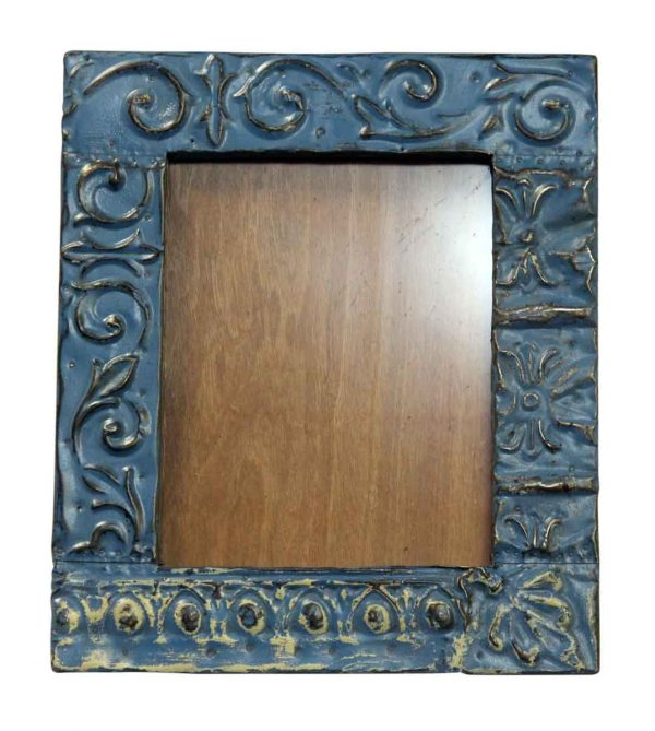8 X 10 Mixed Blue Tin Frame