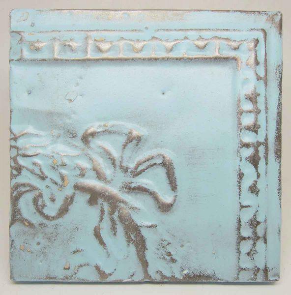 Sky Blue Corner Tin Panel