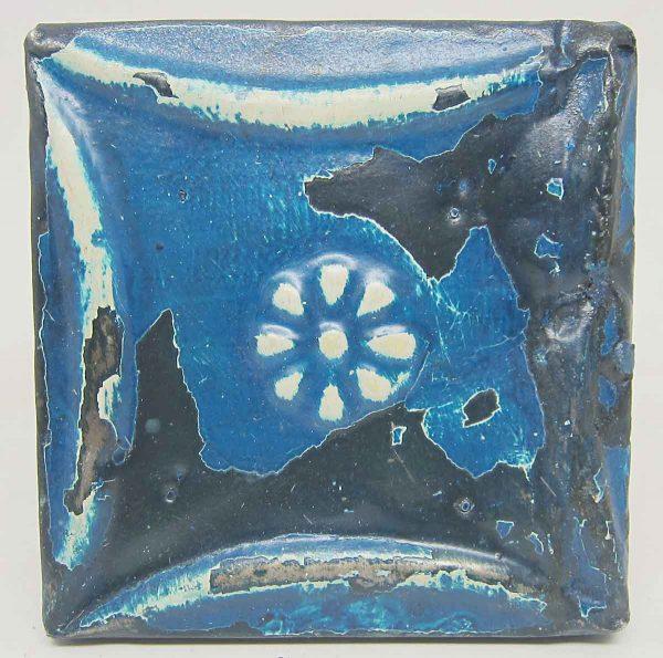 Blue Floral Snowflake Tin Panel