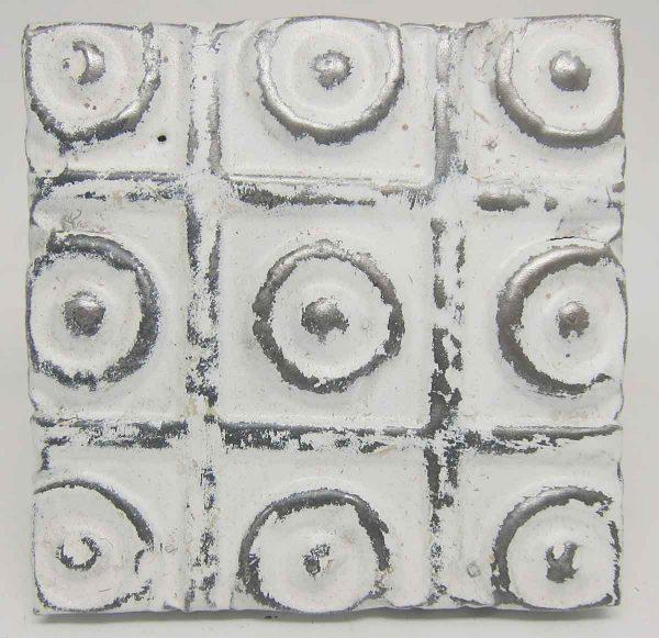 White Circles Tin Panel