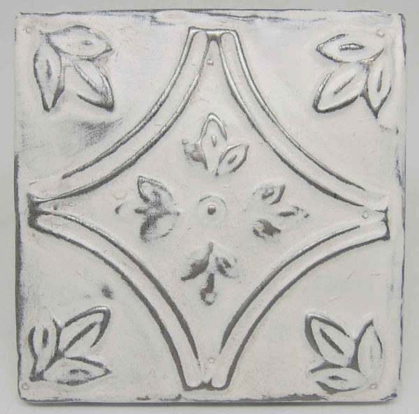 White Diamond Tulip Tin Panel
