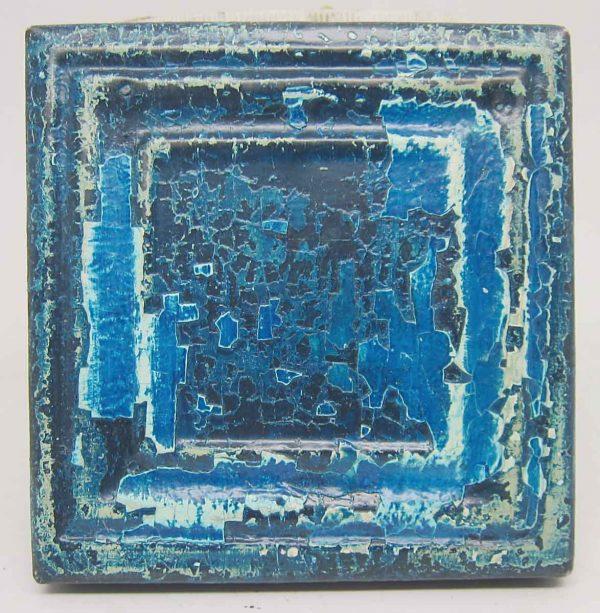 Small Blue Square Tin Panel