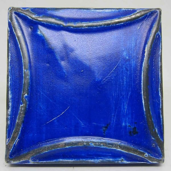Royal Blue Curved Square Tin Panel