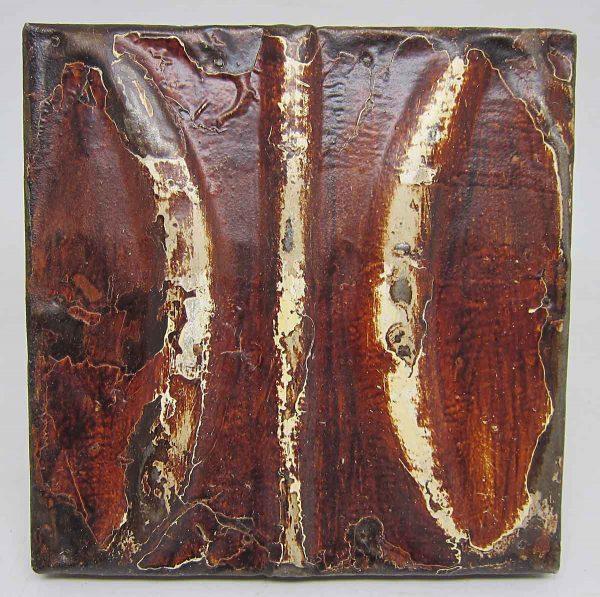 Brown Small Fish Tin Panel