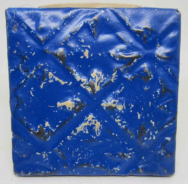 Royal Blue Geometric Tin Panel