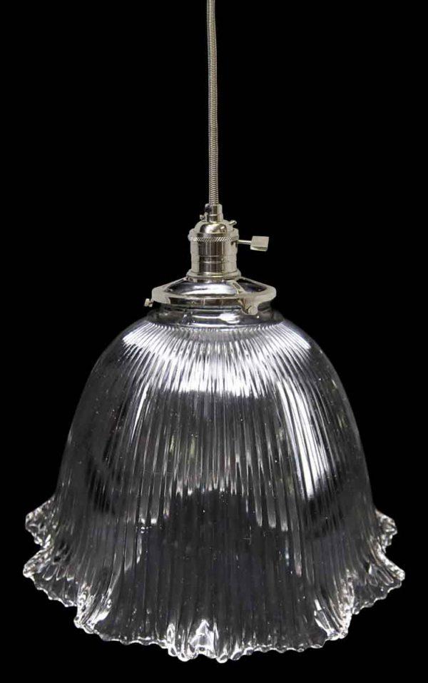 1920s Holophane Prism Glass Shade Light