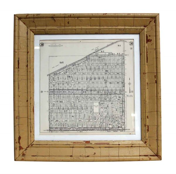 1952 Framed Map of Dade County Florida