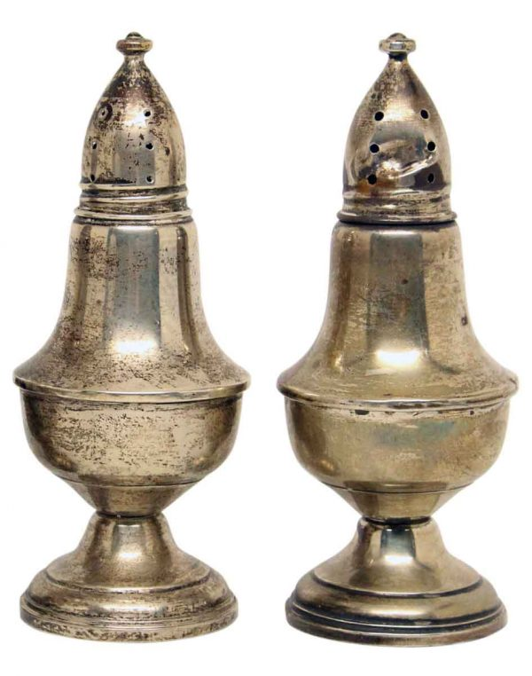 Pair Sterling Silver Shakers