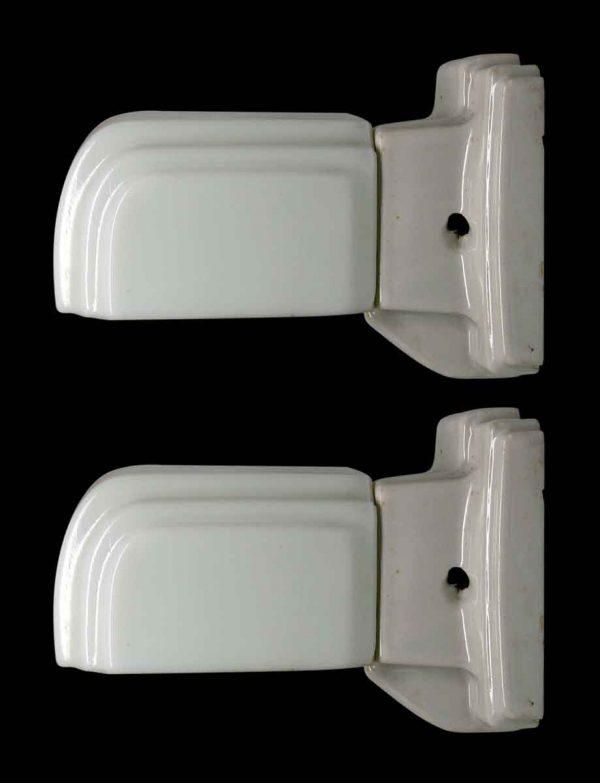 Pair of Deco Porcelain Bathroom Sconces