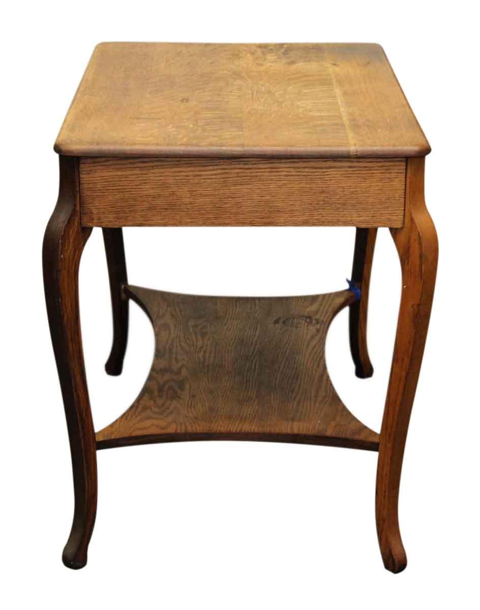 Oak Side Table: Oak Side Table With Drawer