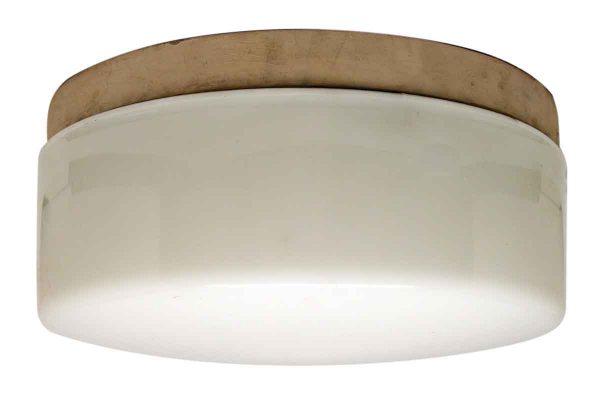 Round Milk Glass Ceiling Fixture