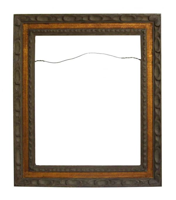 Two Tone Carved Wood Frame