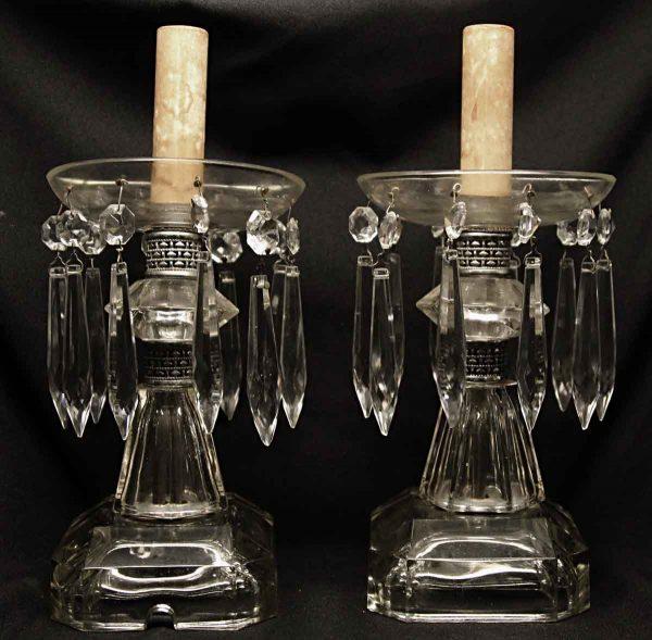 Pair of Crystal Candelabra Lamps