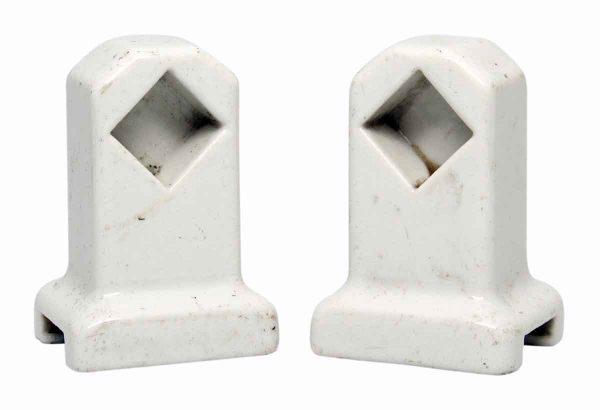 Pair of White Towel Bar Brackets