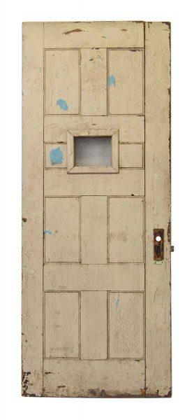 Wooden Door with One Glass Panel