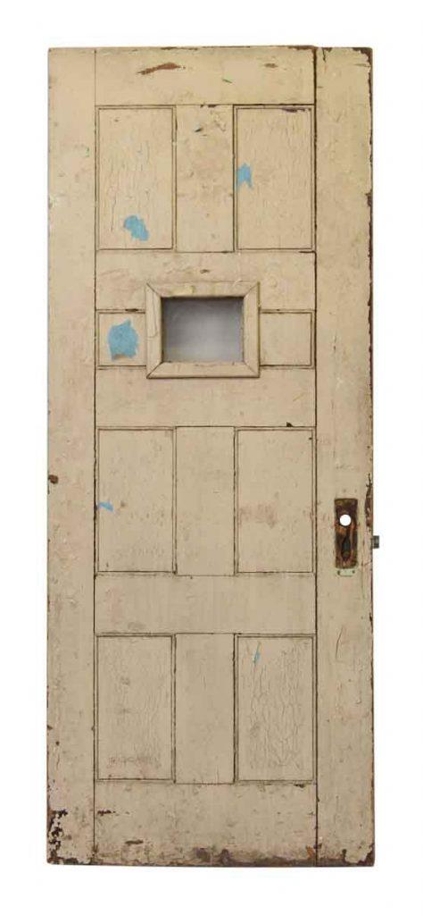 Wooden Door with One Glass Panel - Architectural Salvage Doors, Vintage & Antique Doors Olde Good Things
