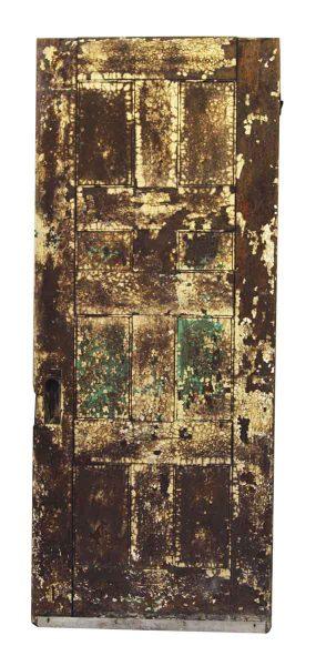 Salvaged Wood Door with Mirror Panel