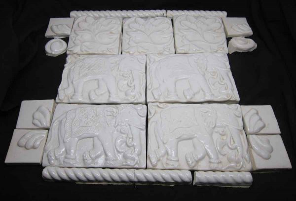 Elephant Mural Tile Set