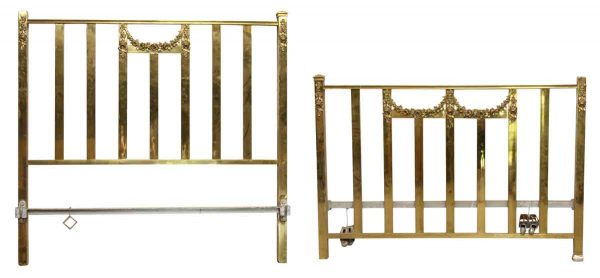 Brass Full Size Floral Bed Frame