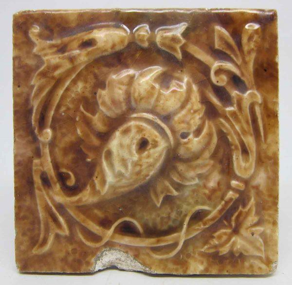 Light Brown Decorative Square Tile